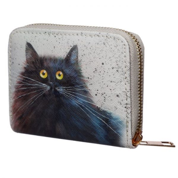 Kim Haskins Cat Malá peněženka - modrá 6 - pro milovníky koček