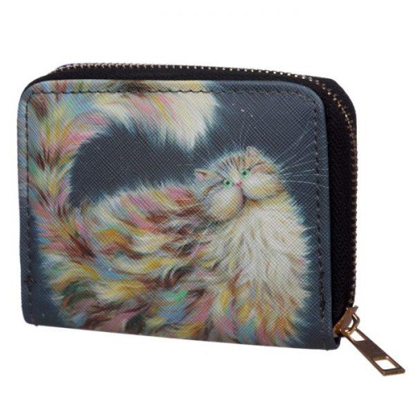 Kim Haskins Cat Malá peněženka - modrá 5 - pro milovníky koček