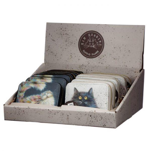 Kim Haskins Cat Malá peněženka - modrá 2 - pro milovníky koček