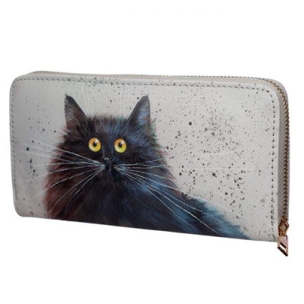 Kim Haskins Cat Peněženka na zips 1 - pro milovníky koček