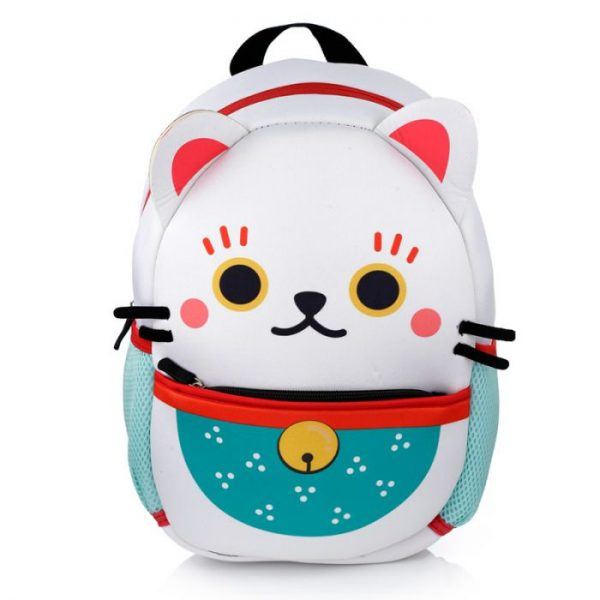 Maneki Neko - kočka štěstí neoprénový batoh 7 - pro milovníky koček