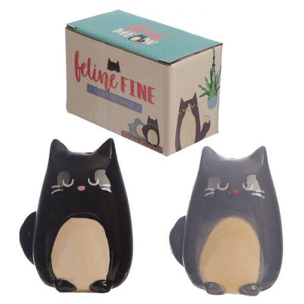 Solnička a pepřenka s kočkou Feline Fine 1 - pro milovníky koček