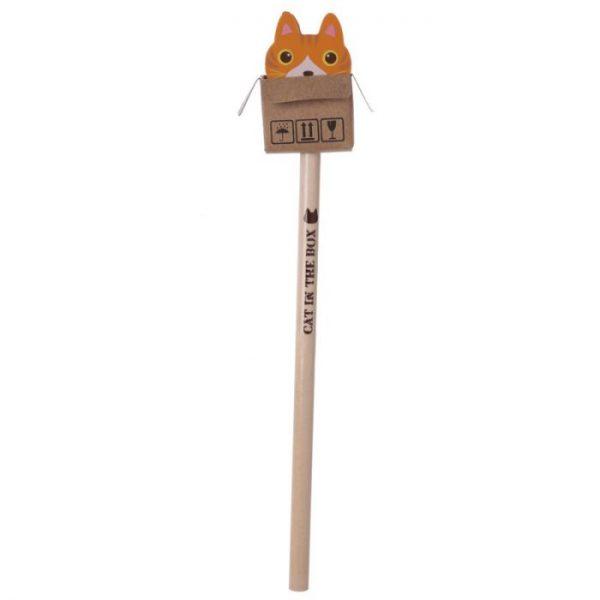 Kočka v krabici - tužka s gumou 5 - pro milovníky koček