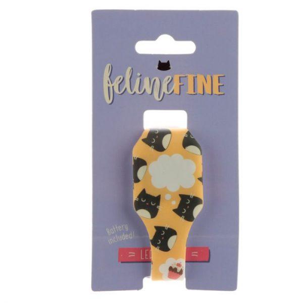 Žluté dětské silikonové digitální hodinky s motivem kočičky Feline Fine 6 - pro milovníky koček