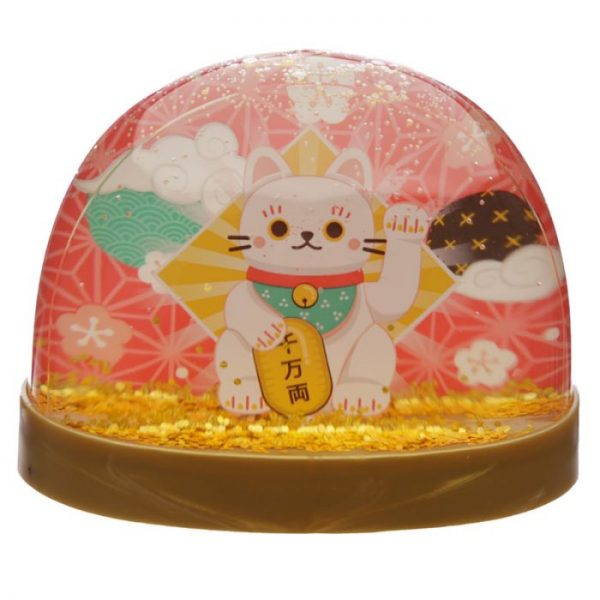 Snežítko s kočičkou pro štěstí Maneki Neko 1 - pro milovníky koček