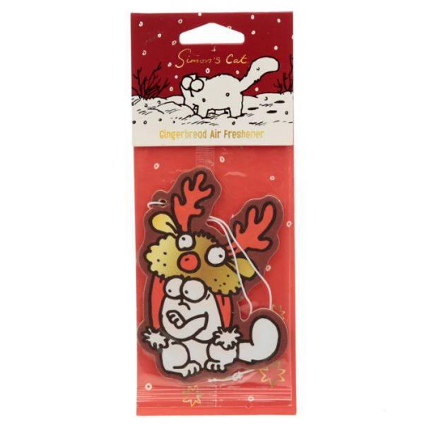Gingerbread Vánoční Simon's Cat Reindeer Hat Osvěžovač vzduchu 1 - pro milovníky koček