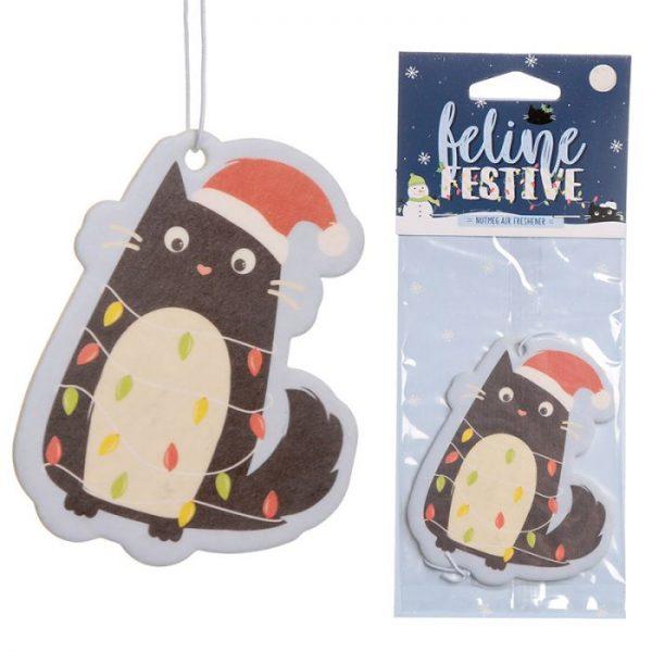 Festive Feline Lights Cat Nutmeg Osvěžovač vzduchu 1 - pro milovníky koček