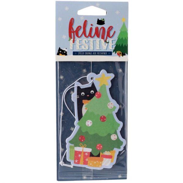 Festive Feline Tree Cat Cinnamon Spice Osvěžovač vzduchu 1 - pro milovníky koček
