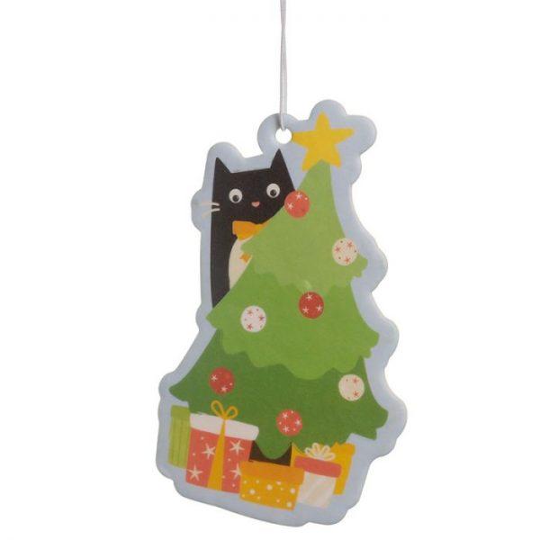 Festive Feline Tree Cat Cinnamon Spice Osvěžovač vzduchu 3 - pro milovníky koček