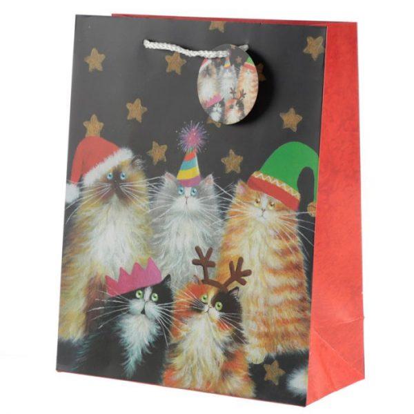 Kim Haskins Vánoční kočičí Dárková taška - velká 1 - pro milovníky koček
