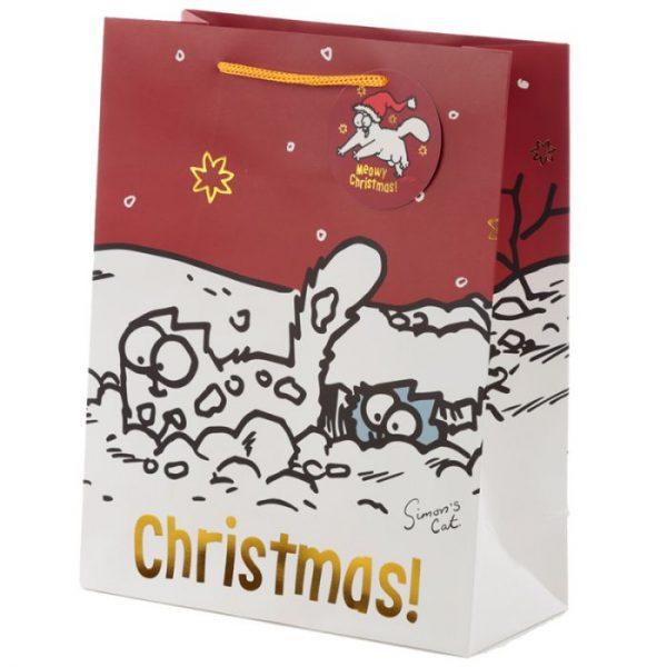 Velká dárková taška Vánoce Simon's Cat - Simonova kočka 1 - pro milovníky koček