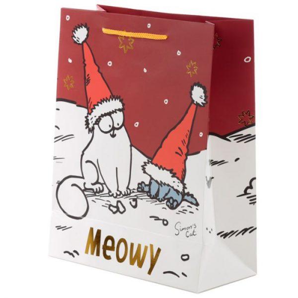 Velká dárková taška Vánoce Simon's Cat - Simonova kočka 3 - pro milovníky koček