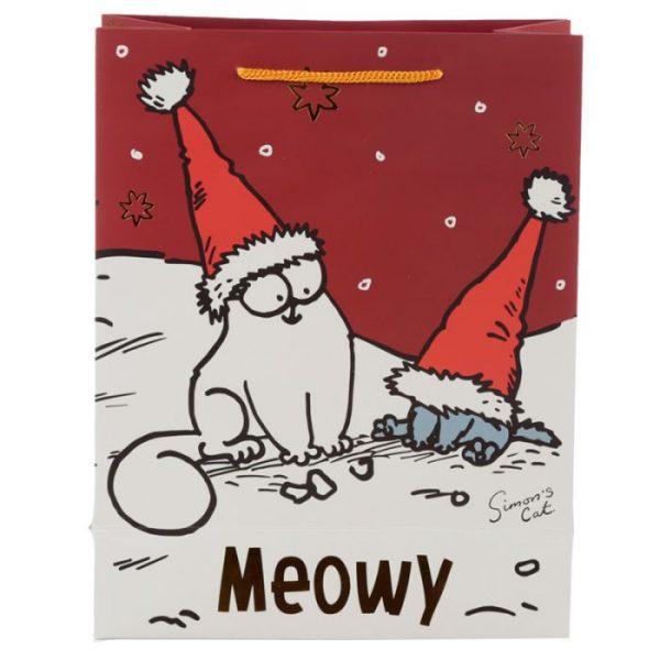 Velká dárková taška Vánoce Simon's Cat - Simonova kočka 4 - pro milovníky koček