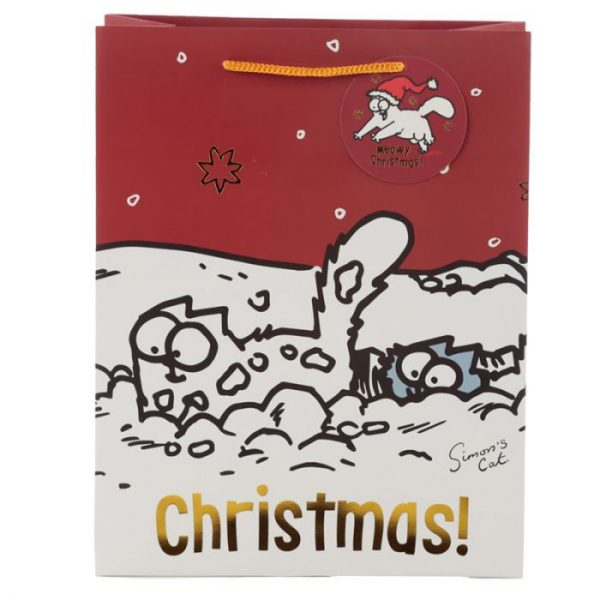 Velká dárková taška Vánoce Simon's Cat - Simonova kočka 2 - pro milovníky koček