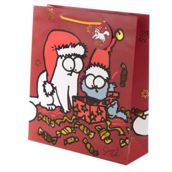 Extra velká dárková taška Vánoce Simon's Cat - Simonova kočka 1 - pro milovníky koček