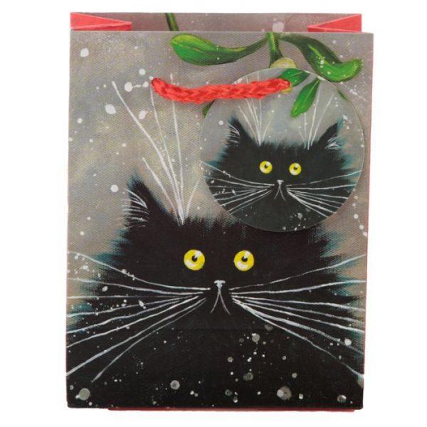 Malá dárková taška s motivem kočičky Kim Haskins 2 - pro milovníky koček