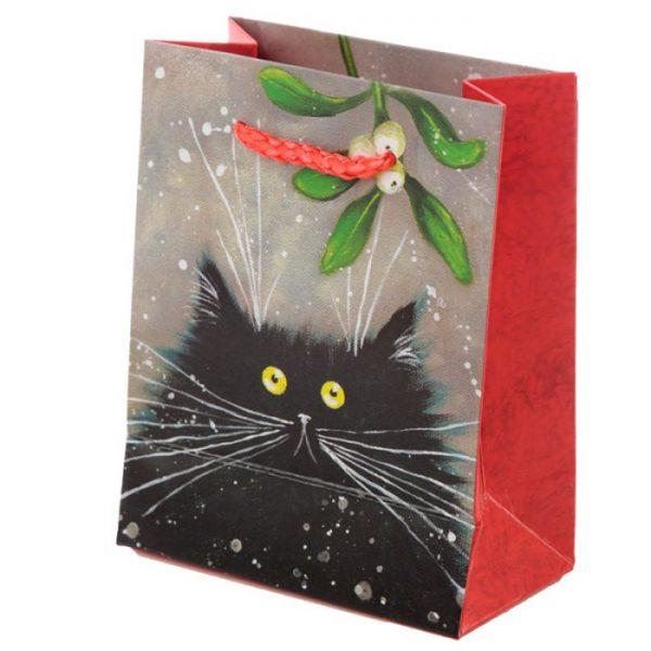 Malá dárková taška s motivem kočičky Kim Haskins 3 - pro milovníky koček