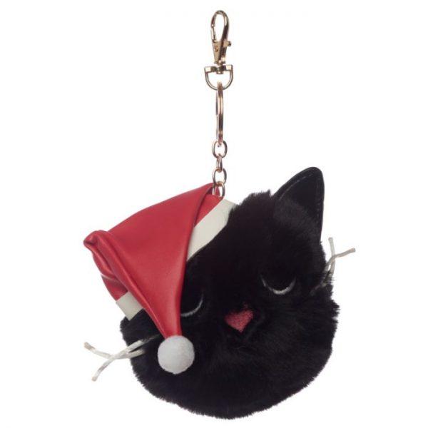Festive Feline Vánoční kočka Pom Pom Klíčenka 2 - pro milovníky koček