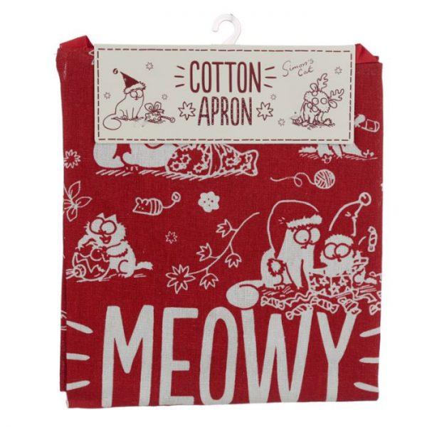Zástěra polobavlněná - Simon's Cat Meowy Vánoční 5 - pro milovníky koček