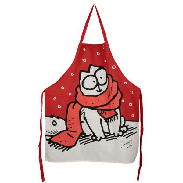 Polobavlnená kuchyňská zástěra s vánočním motivem Simon 's cat 1 - pro milovníky koček