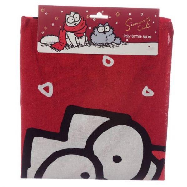 Polobavlnená kuchyňská zástěra s vánočním motivem Simon 's cat 5 - pro milovníky koček