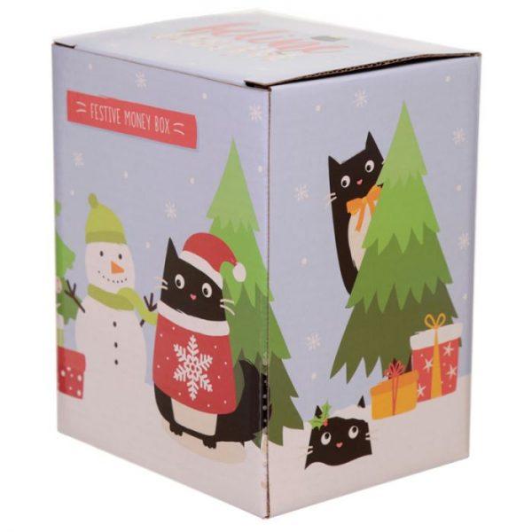 Feline Festive Vánoční Kočka - Keramická Pokladnička 2 - pro milovníky koček