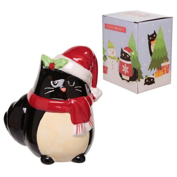 Feline Festive Vánoční Kočka - Keramická Pokladnička 4 - pro milovníky koček