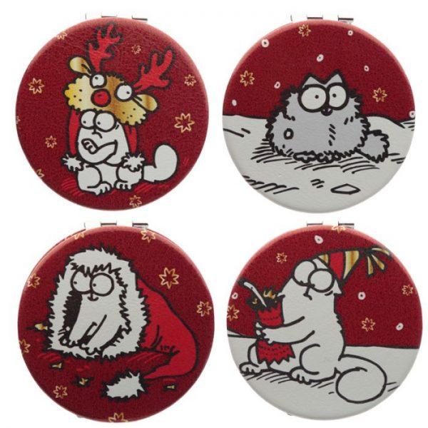 Simon's Cat Vánoční Koženkové kompaktní zrcátko 1 - pro milovníky koček