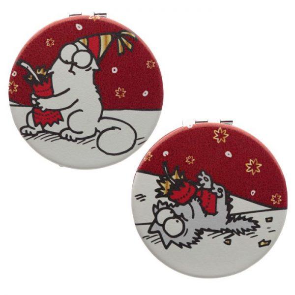 Simon's Cat Vánoční Koženkové kompaktní zrcátko 5 - pro milovníky koček