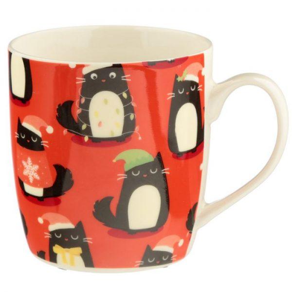 Feline Festive Cat Porcelánový hrníček 4 - pro milovníky koček