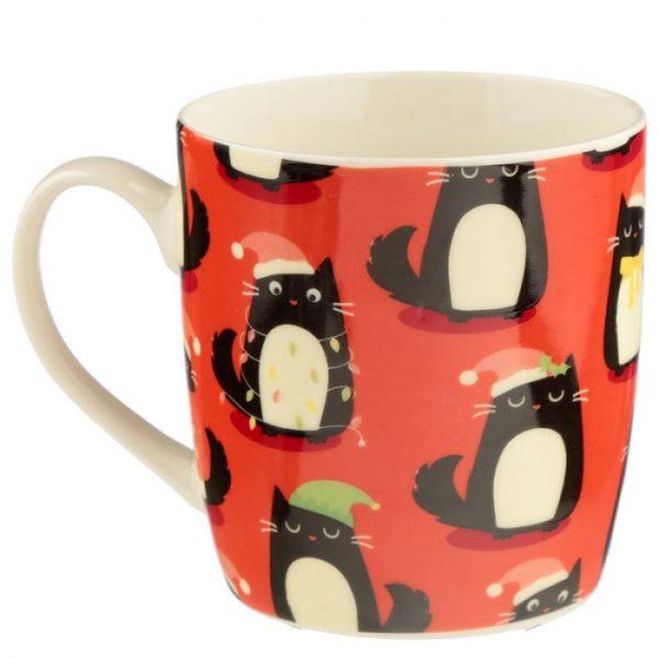 Feline Festive Cat Porcelánový hrníček 6 - pro milovníky koček