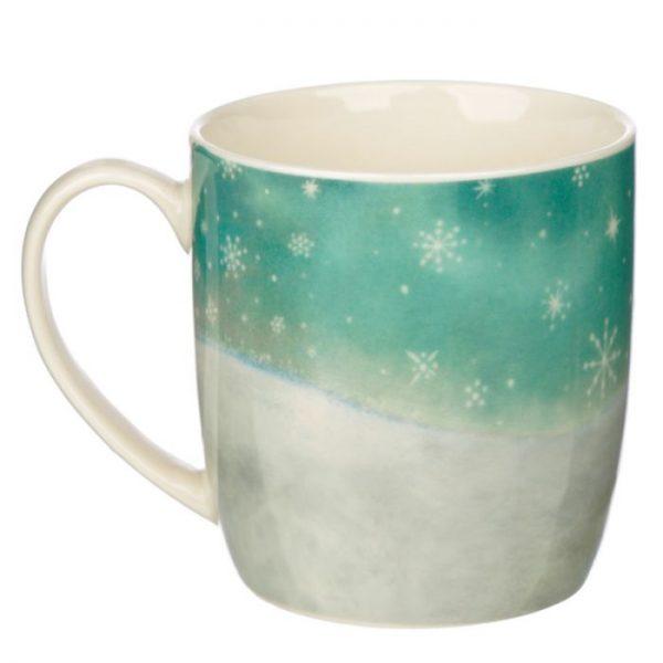Vánoční porcelánový šálek s motivem zrzavé kočičky Kim Haskins 4 - pro milovníky koček