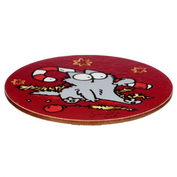 Vánoční porcelánový set šálky a podšálky s motivem Simon 's Cat 2 - pro milovníky koček