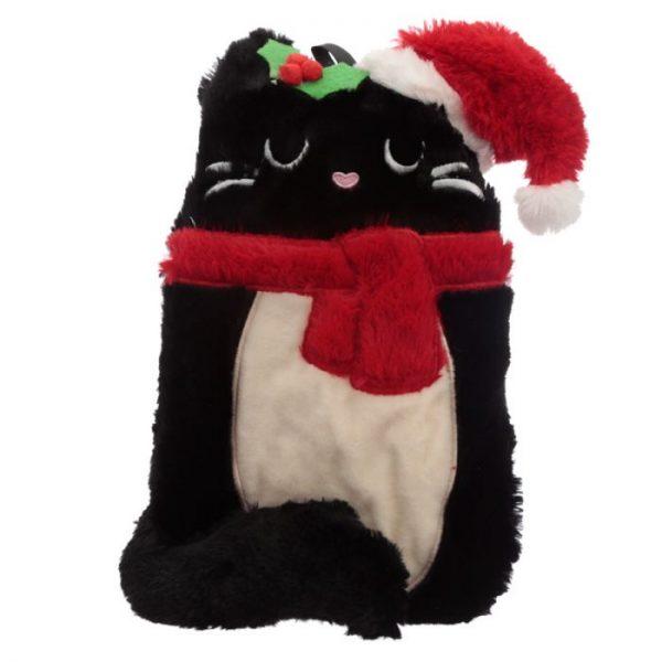Feline Festive Vánoční Kočka 1L plyšová láhev na horkou vodu - termopolštářek 4 - pro milovníky koček