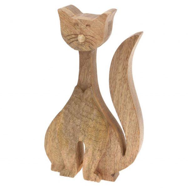 Dřevěná zahradní dekorace - kočka, 34 x 17 cm 1 - pro milovníky koček