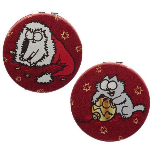 Simon's Cat Christmas Leatherette Compact Mirror - 2 1 - pro milovníky koček