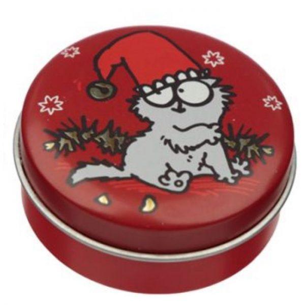 Simon's Cat Christmas Cat Balzám na rty a plechovka - vánoční cukroví 1 - pro milovníky koček