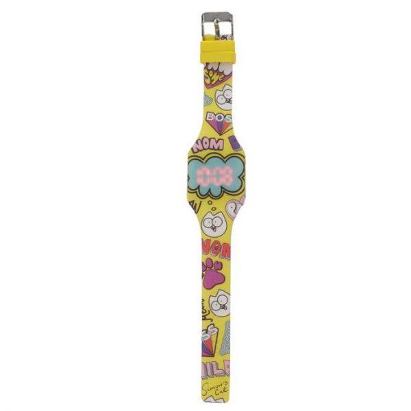 Simon's Cat Silikonové digitální hodinky - žluté 1 - pro milovníky koček