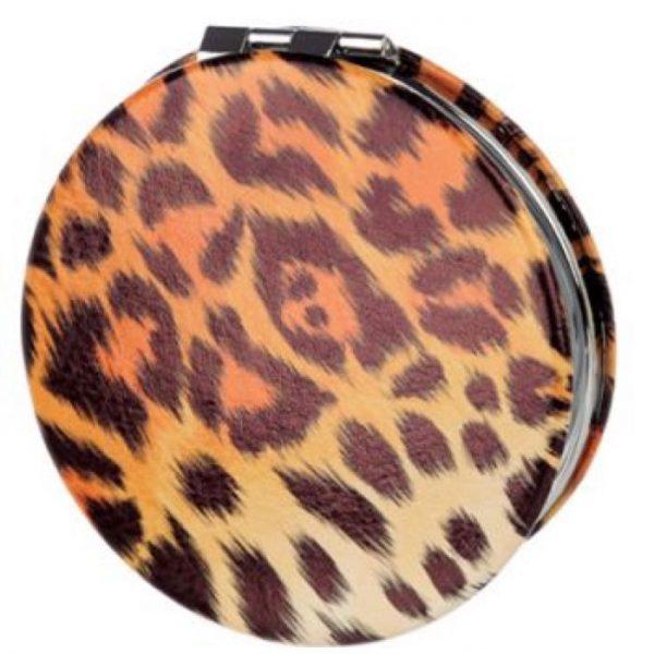 Spots & Stripes Big Cat Koženkové kompaktní zrcadlo - skvrny 1 - pro milovníky koček