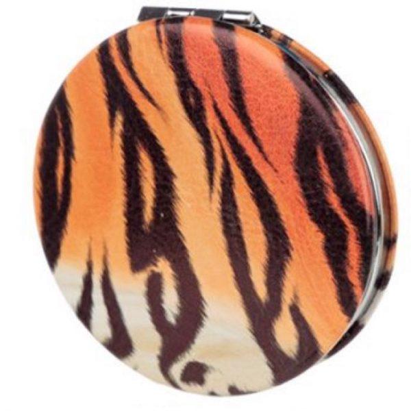 Spots & Stripes Big Cat Koženkové kompaktní zrcadlo - pruhy 1 - pro milovníky koček