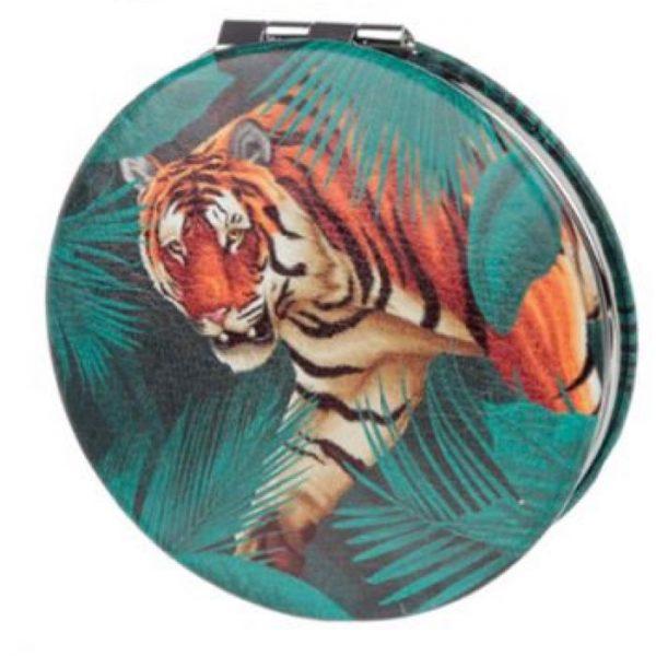 Spots & Stripes Big Cat Koženkové kompaktní zrcadlo - tiger 1 - pro milovníky koček