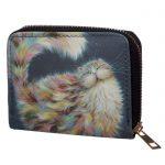 Kim Haskins Cat Malá peněženka - modrá 1 - pro milovníky koček